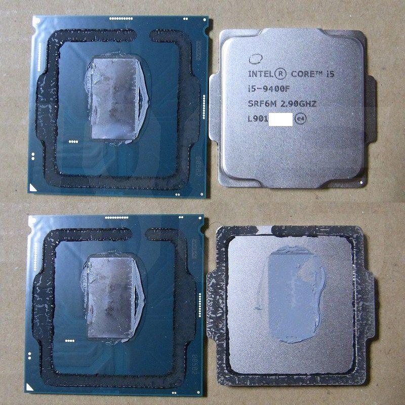 Intel Core i5-9400F - delidding procesora