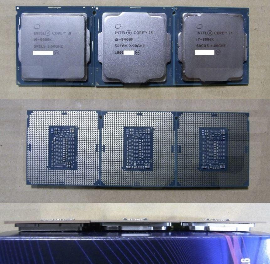 Intel Core i9-9900K, Core i5-9400F i Core i7-8086K