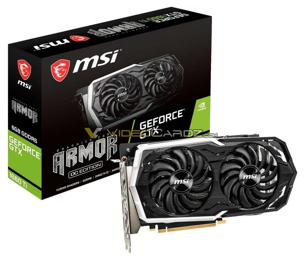 MSI GeForce GTX 1660 Ti Armor OC