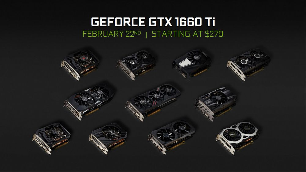 Nvidia GeForce GTX 1660 Ti - karty