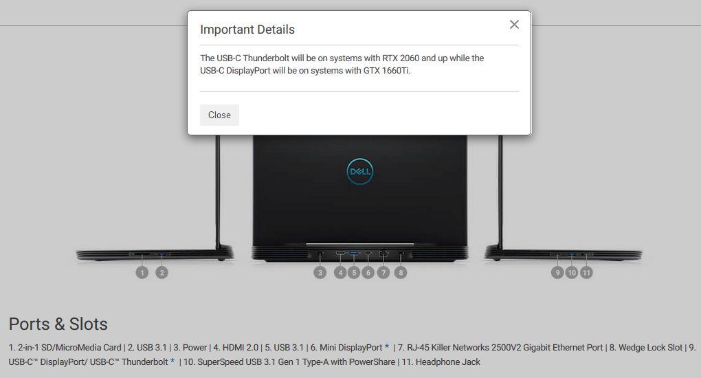 Dell G5 15 - GeForce GTX 1660 Ti
