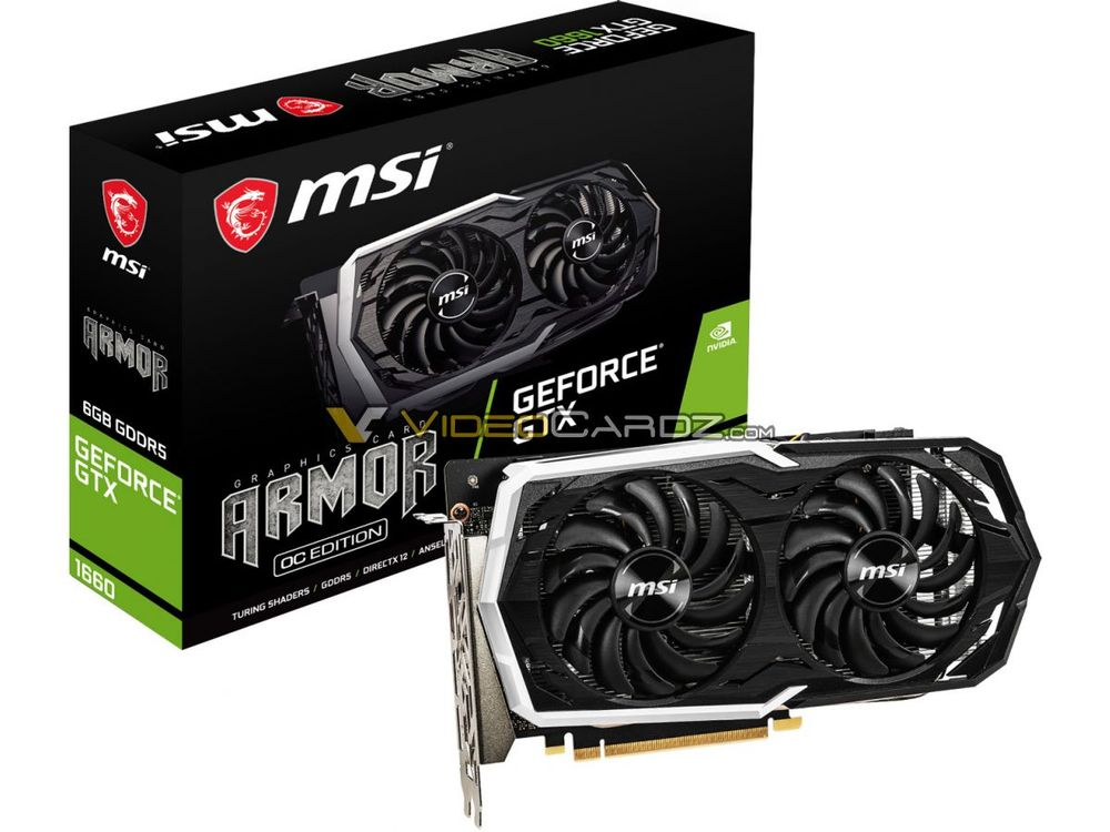 MSI GeForce GTX 1660 Armor OC