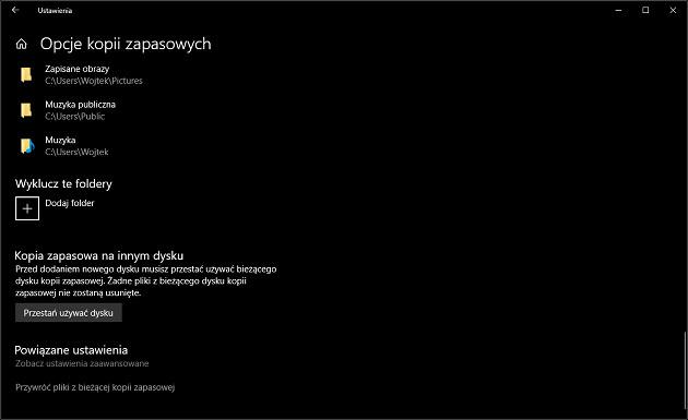 backup Windows 10 przywracanie