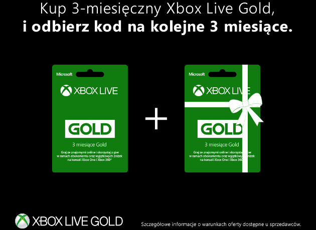 Promocja Xbox Live Gold