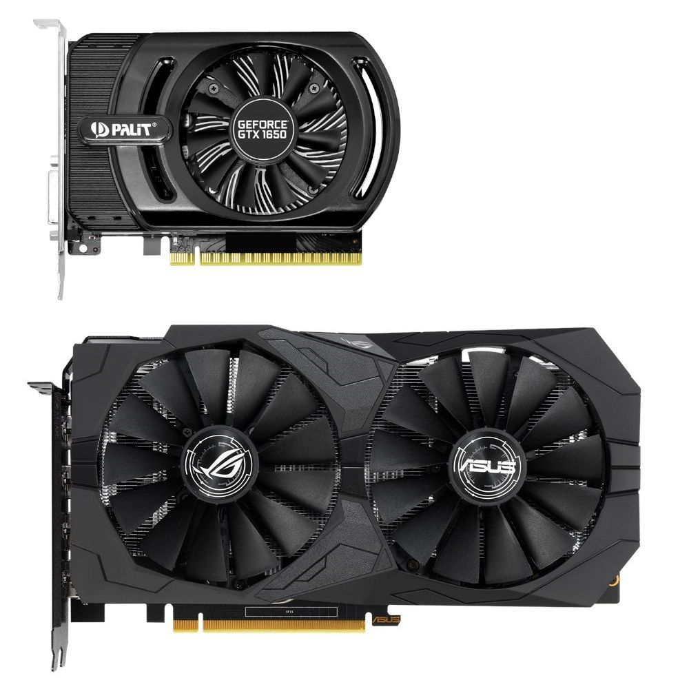 ASUS GeForce GTX 1650 i Palit GeForce GTX 1650