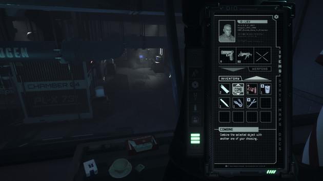 Daymare: 1998 screen UI