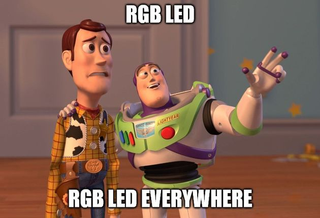RGB LED mem