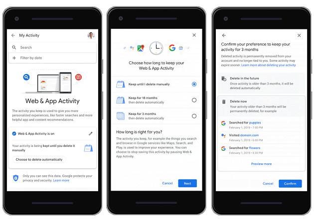 Google auto-usuwanie