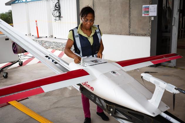 UPS dron Ghana wygląd