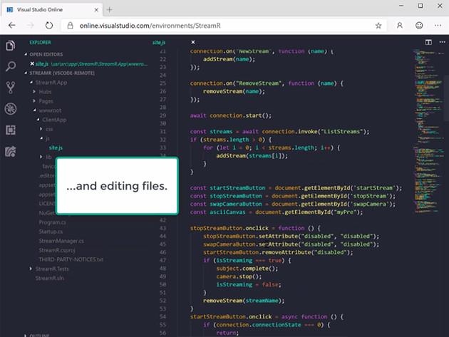 Visual Studio Online screen