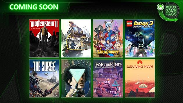 Xbox Game Pass maj