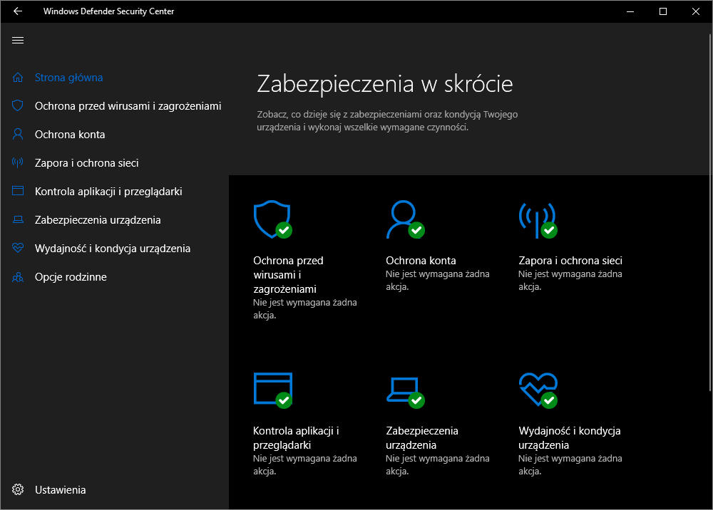 Windows Defender screen