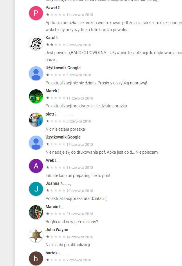 Brother iPrint&Scan w Google play - opinie użytkowników