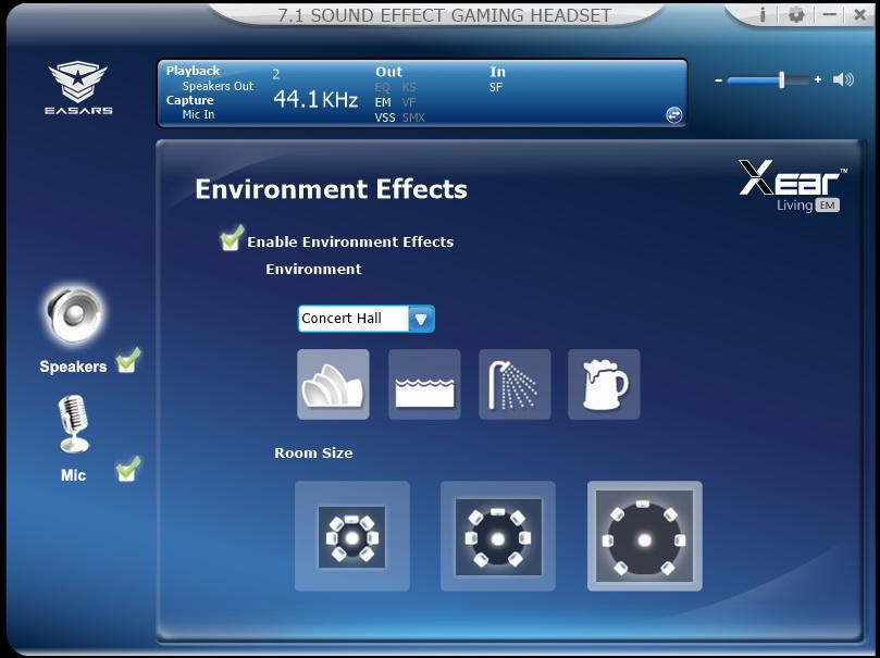 Easars Vortex 7.1 - efekty środowiskowe