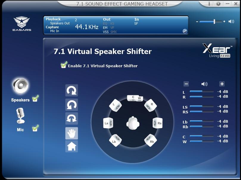 Easars Vortex 7.1 - wirtualne ustawianie sceny dźwiękowej