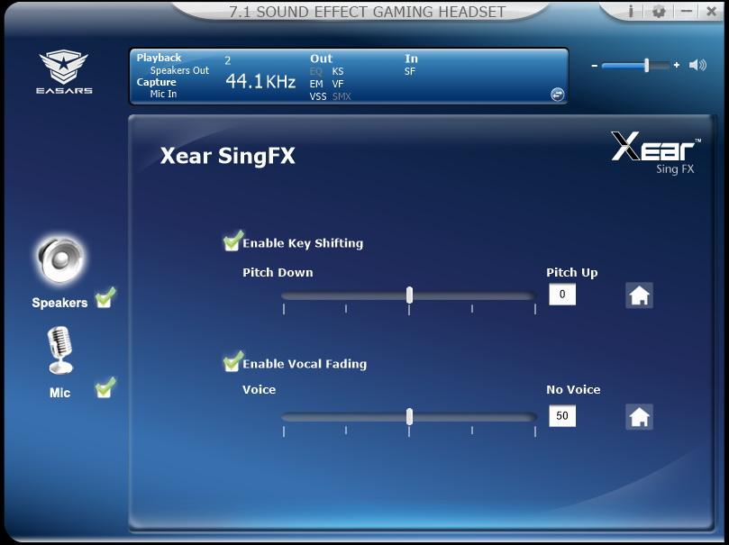 Easars Vortex 7.1 - wyciszanie wokalu