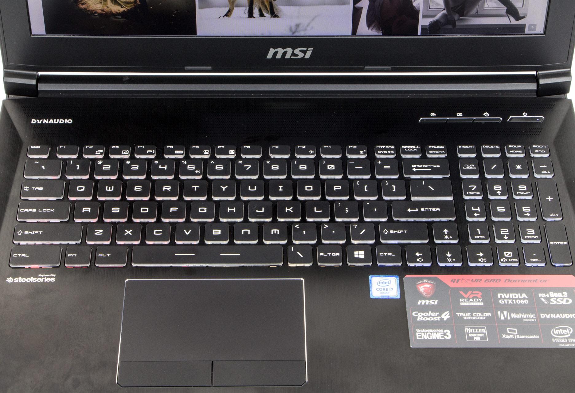 MSI GT73VR 6RE klawiatura
