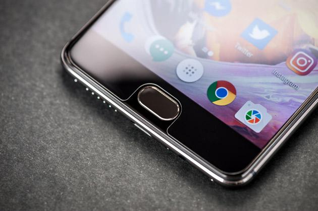 OnePlus 3T - czytnik linii papilarnych