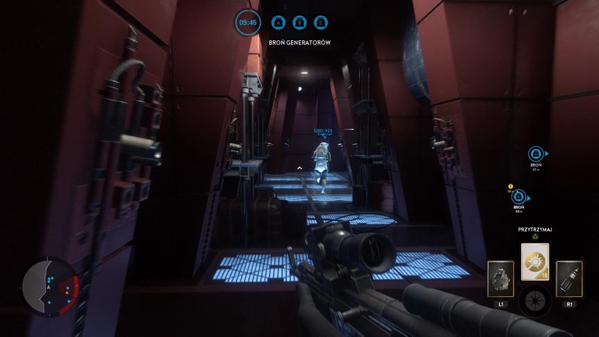 Star Wars: Battlefront - korytarze Bespin