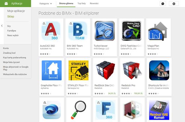 Aplikacje Android do projektowania