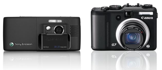 Sony Ericcson K800i Canon G7