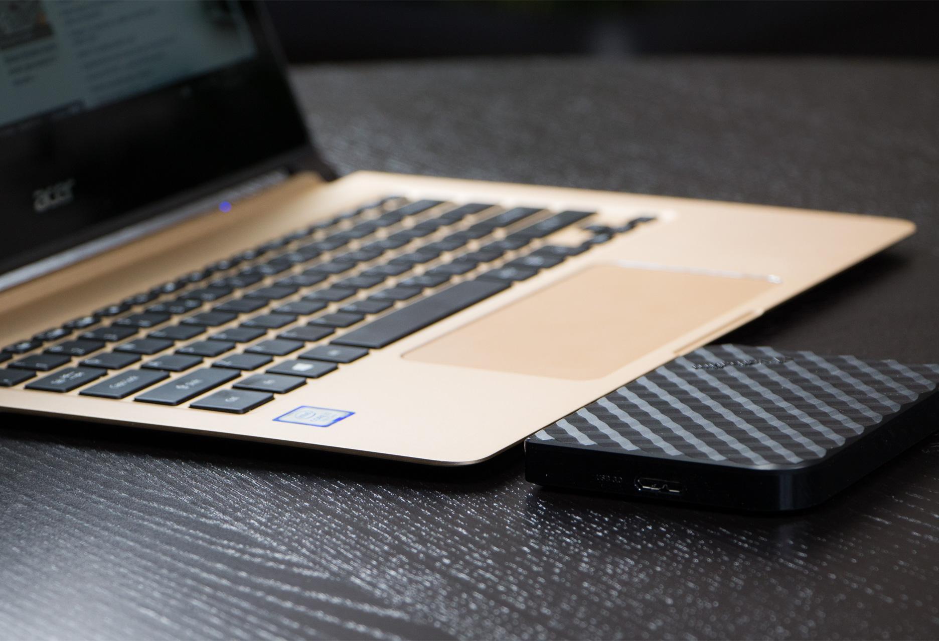 Acer Swift 7 vs dysk zewnętrzny