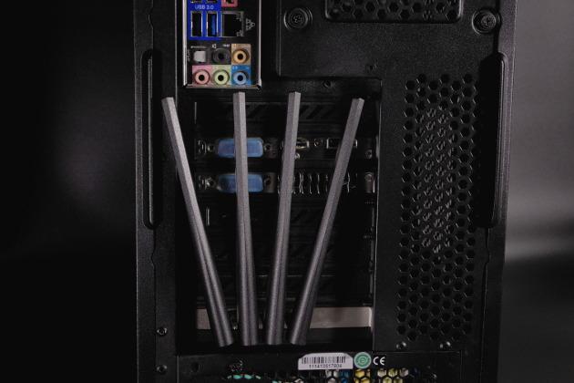 Karta ASUS PCE-AC88 zamontowana w komputerze