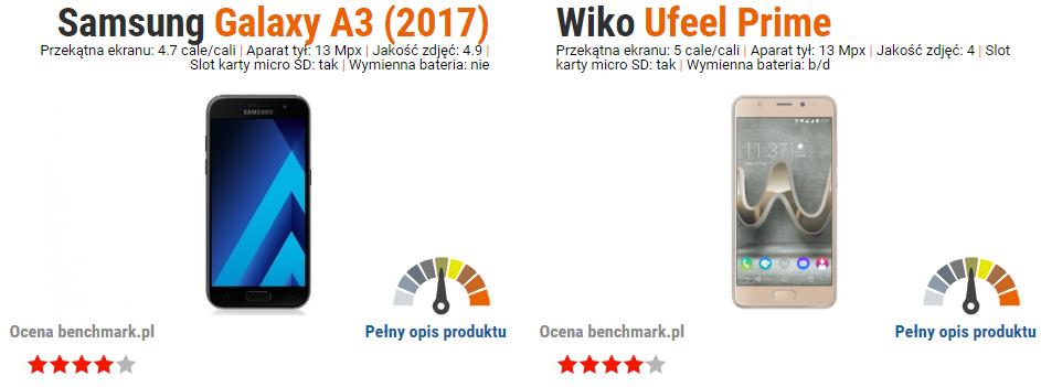 Samsung Galaxy A3 2017 vs Wiko Ufeel Prime