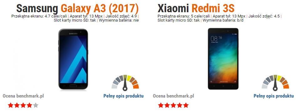 Samsung Galaxy A3 2017 vs Xiaomi Redmi 3S