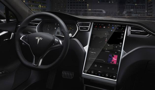 Tesla S wyświetlacz