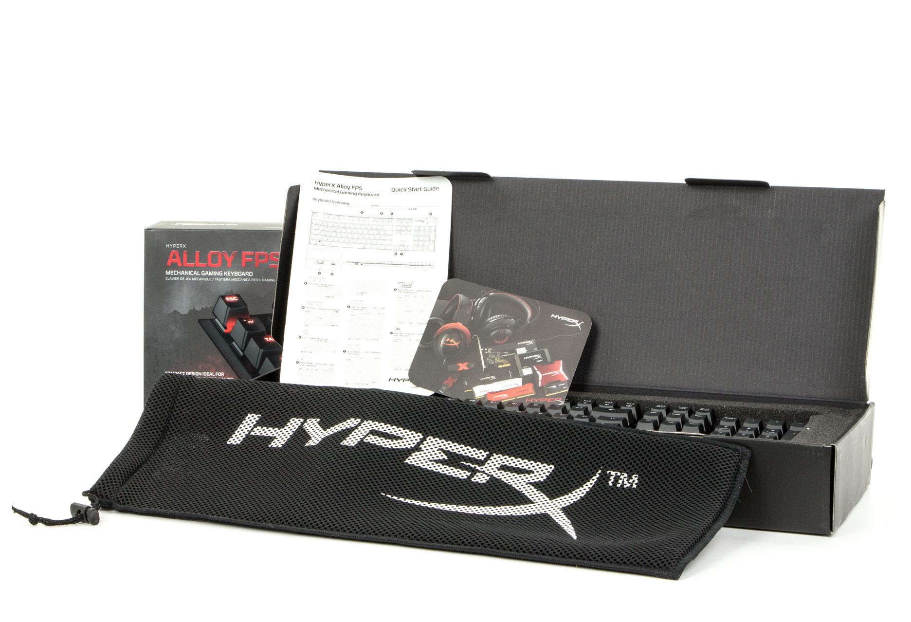HyperX Alloy FPS Cherry MX Red - zawartość pudełka