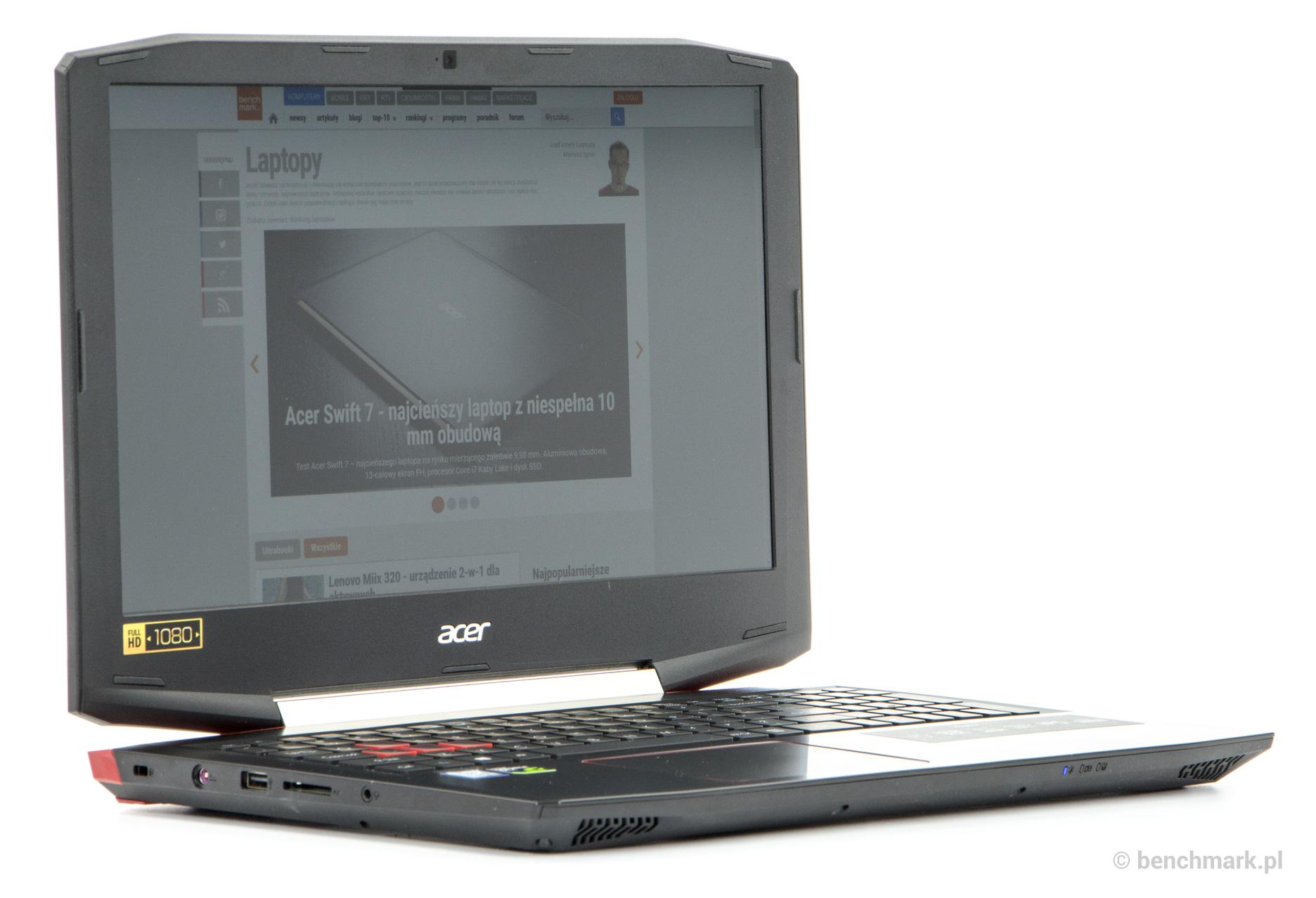 Acer Aspire VX 15 kąty widzenia