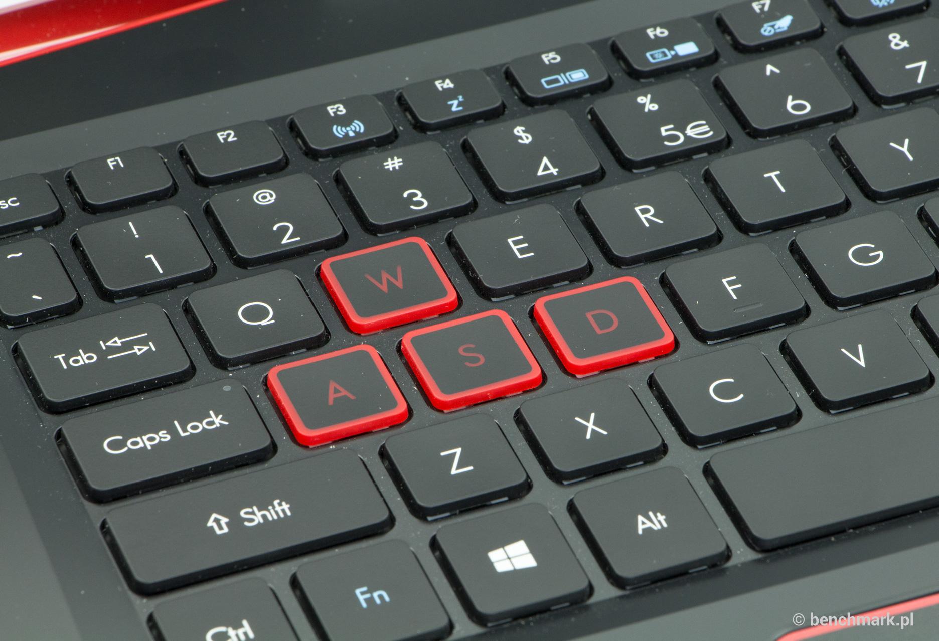 Acer Aspire VX 15 klawisze WASD