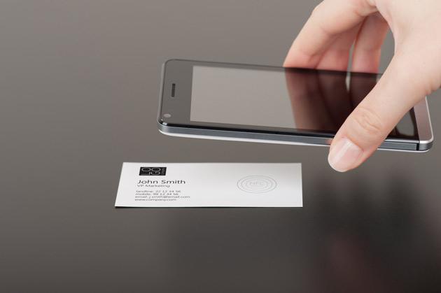 Cyfrowe wizytówki w telefonie