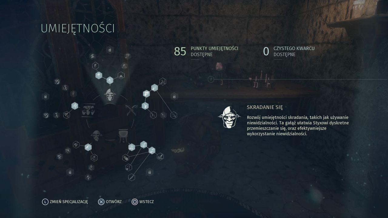 Styx: Shards of Darkness - umiejętności goblina