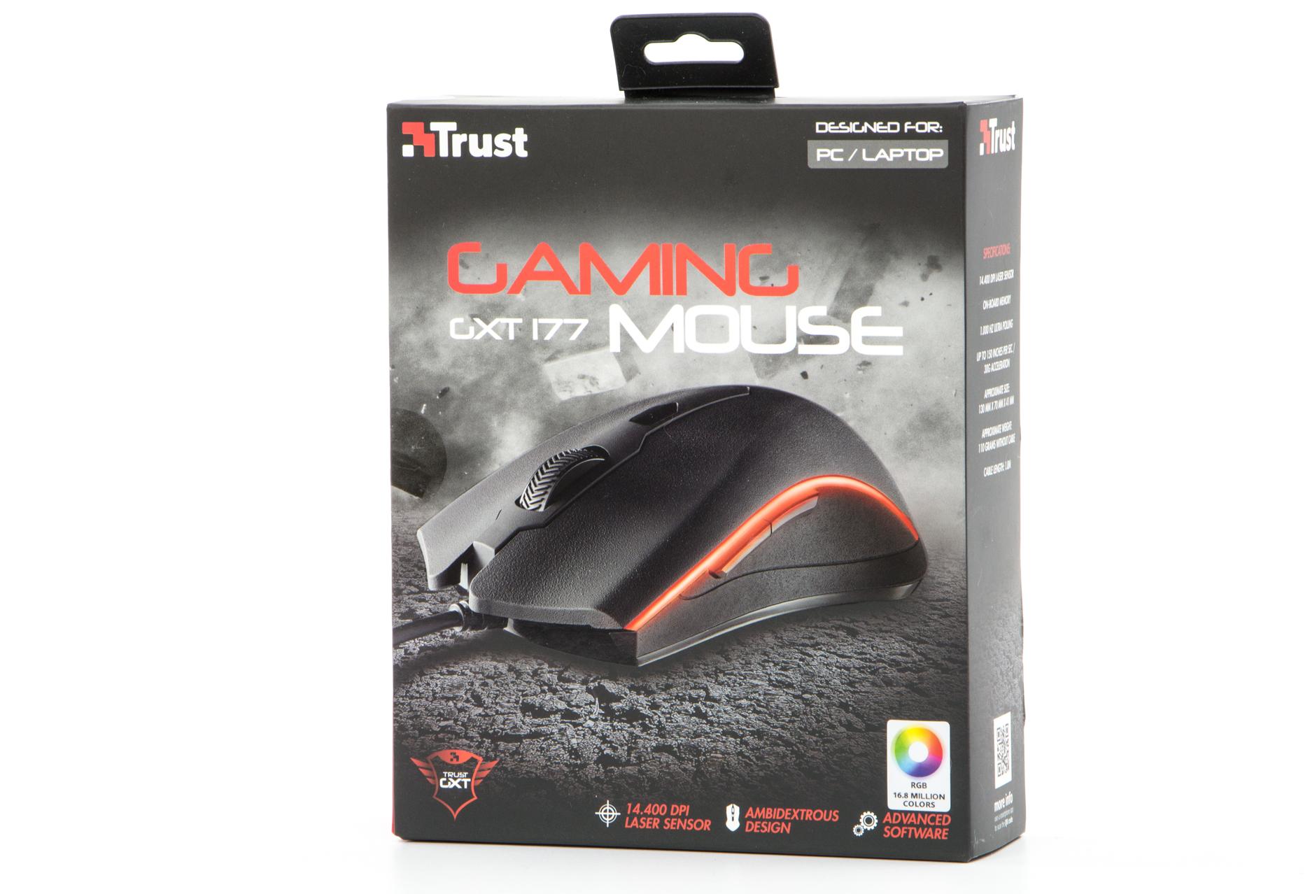 Trust GXT 177 Gaming Mouse - pudełko