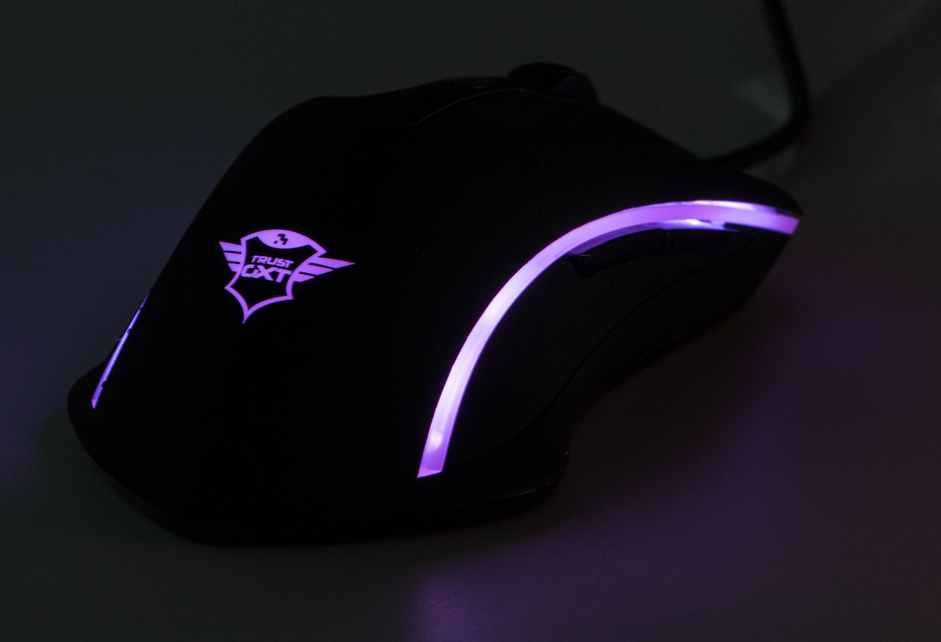 Trust GXT 177 Gaming Mouse - obszary podświetlenia