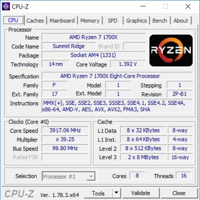 AMD Ryzen 7 1700X - podkręcanie
