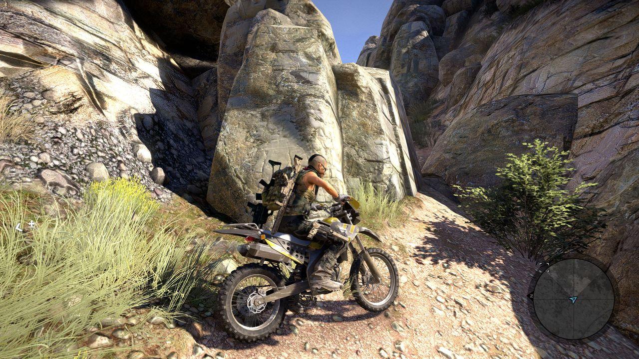 Ghost Recon: Wildlands - motocyklem w góry