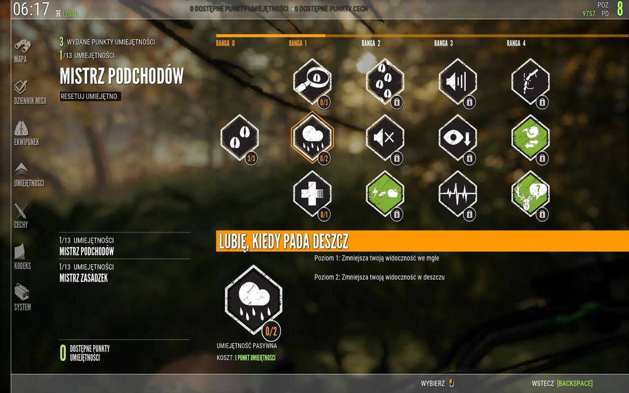 theHunter: Call of the Wild - rozwój umiejętności