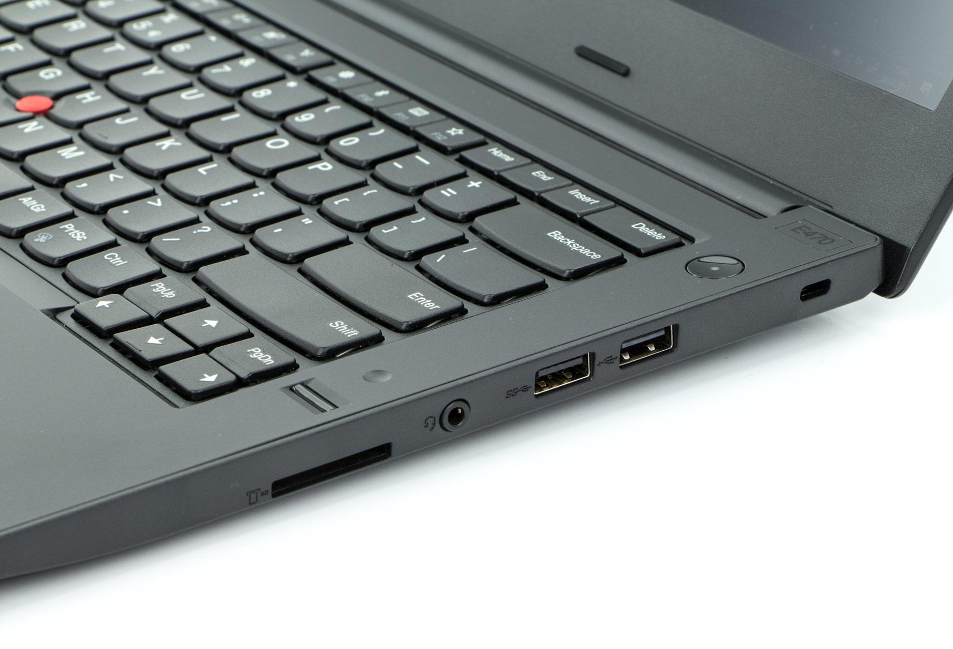 Lenovo ThinkPad E470 prawy bok