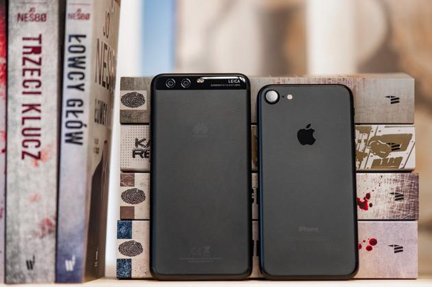 Huawei P10 vs Apple iPhone 7 - porównanie wielkości