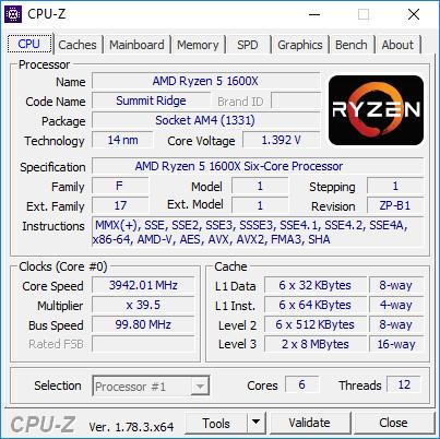 AMD Ryzen 5 1600X - podkręcanie