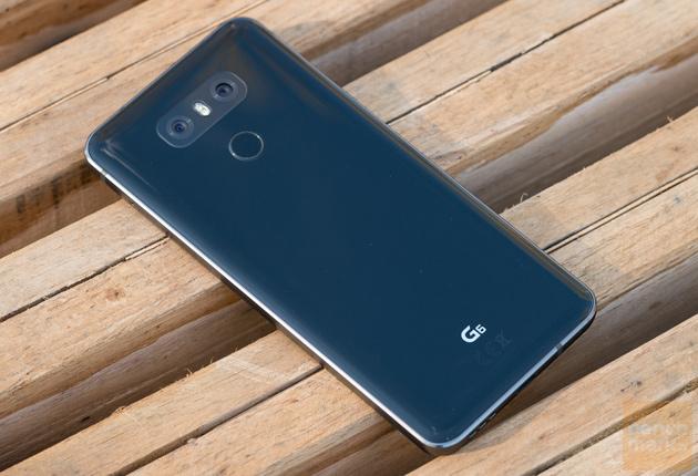 LG G6 odbicie słoneczne