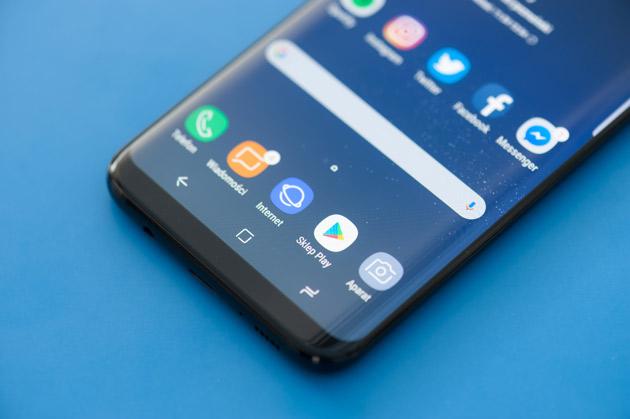 Samsung Galaxy S8+ przyciski systemowe