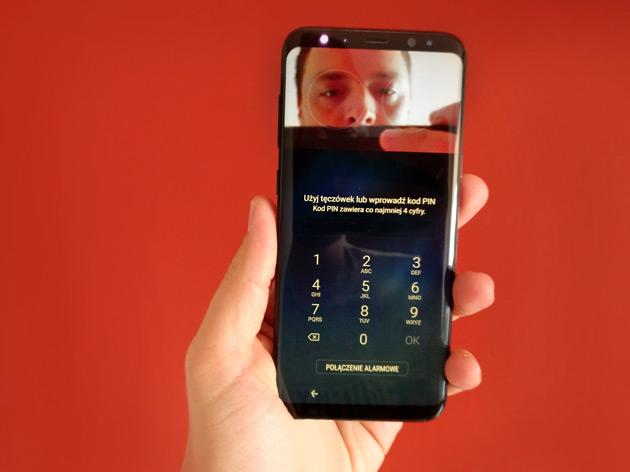 Galaxy S8+ skaner tęczówki oka