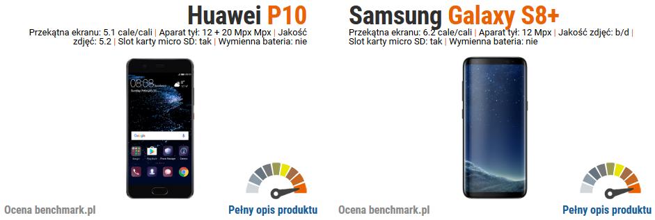 Huawei P10 vs Samsung Galaxy S8+