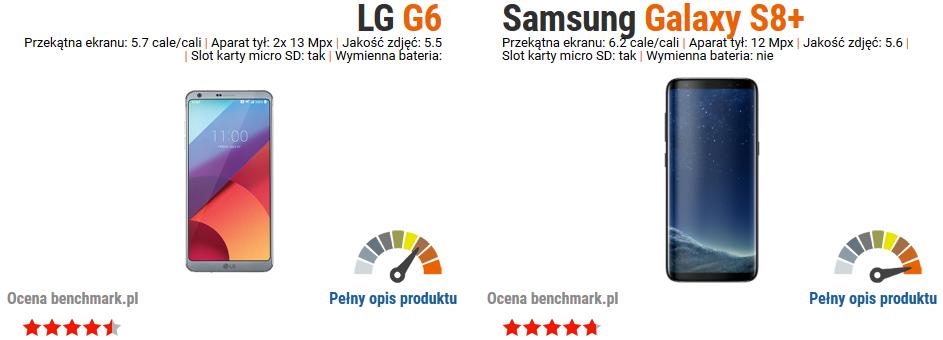 LG G6 vs Samsung Galaxy S8+