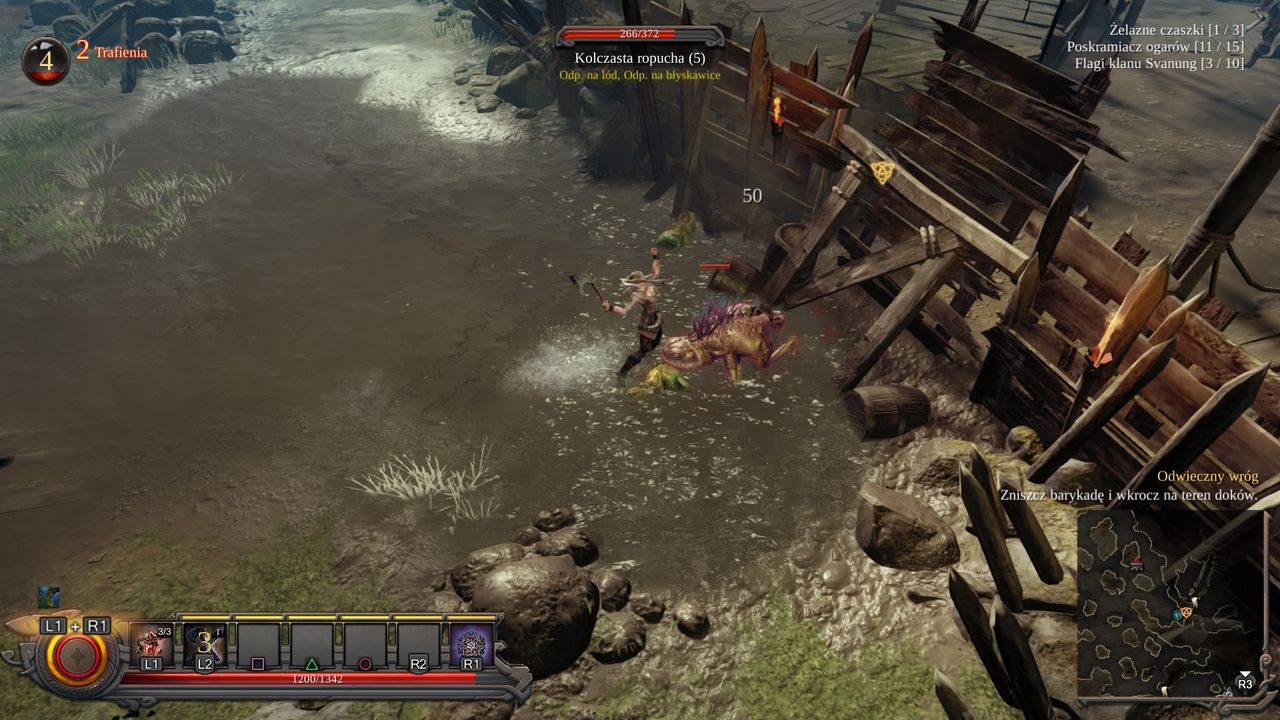 Vikings: Wolves of Midgard - walka z kolczastą ropuchą
