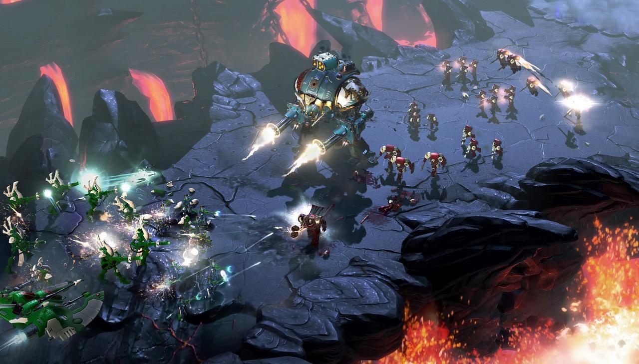 Dawn of War III - potyczka Kosmiczni Marines kontra Eldarzy